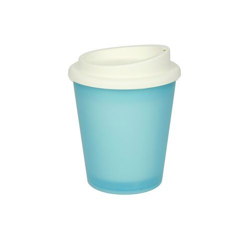 Kaffeebecher 'Premium' Frozen, small (lightblue-transp.) (Art.-Nr. CA210066)
