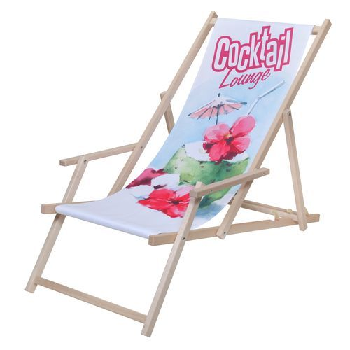 Liegestuhl 'Chillout Deluxe' (natur) (Art.-Nr. CA803624)