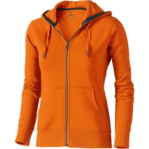 Arora Damen Kapuzensweatjacke (orange) (Art.-Nr. CA014260)