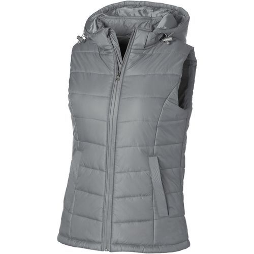 Mixed Doubles Damen Bodywarmer mit Kapuze (grau) (Art.-Nr. CA029731)