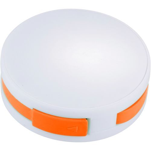 Round USB Hub (weiss,orange) (Art.-Nr. CA068102)
