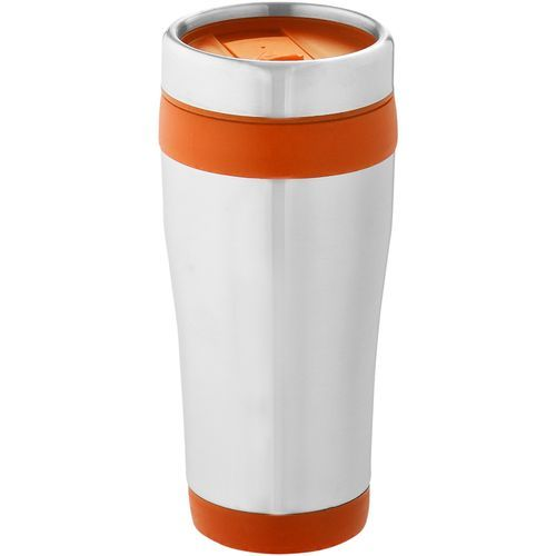 Elwood 410 ml Isolierbecher (silber, orange) (Art.-Nr. CA429315)