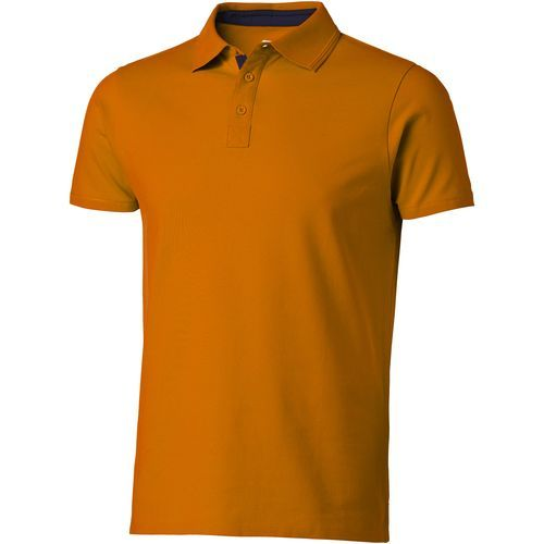 Hacker Poloshirt für Herren (orange, navy) (Art.-Nr. CA515940)