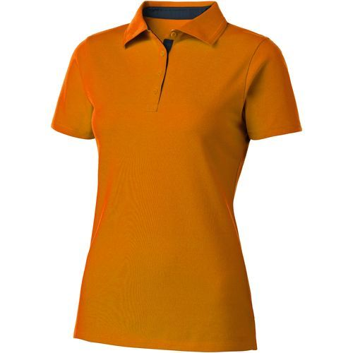 Hacker Poloshirt für Damen (orange, navy) (Art.-Nr. CA733072)