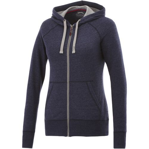 Groundie Damen Kapuzensweatjacke (heather blau) (Art.-Nr. CA737309)