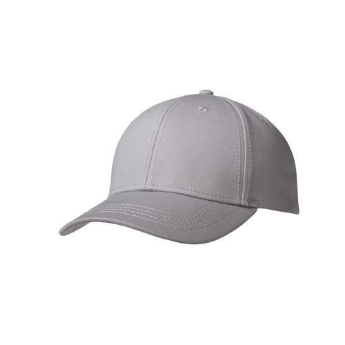 Luxury Fine Cotton 6 Panel Cap (grau) (Art.-Nr. CA028198)