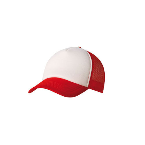5 Panel Trucker Cap (rot / weiß) (Art.-Nr. CA036318)