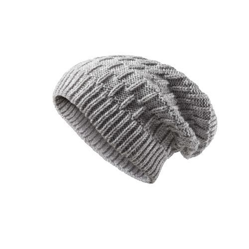 Heavy Knitted Slouchy Hat (grau) (Art.-Nr. CA036794)