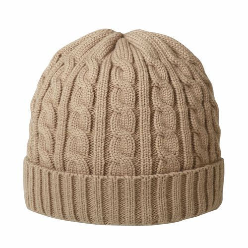 Luxury cable hat (Khaki) (Art.-Nr. CA045742)