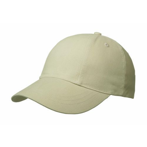 Brushed Cotton 6 Panel Turn Top Cap (beige) (Art.-Nr. CA092779)