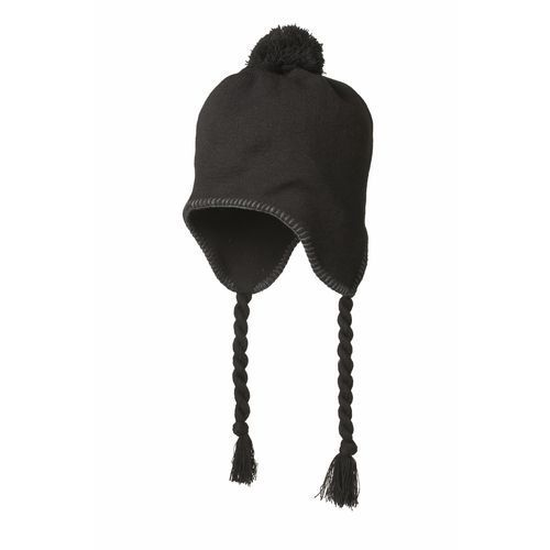 Pumpkin hat with strings (schwarz-grau) (Art.-Nr. CA094505)