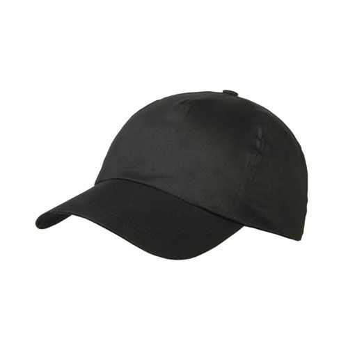 Brushed 5 Panel Kids Cap (schwarz) (Art.-Nr. CA114728)