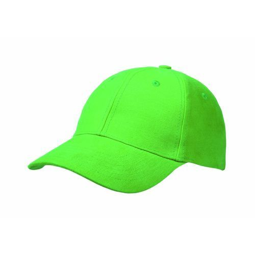 Brushed Cotton 6 Panel Brushed Cotton Cap (lime) (Art.-Nr. CA138544)