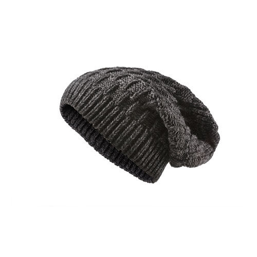 Heavy Knitted Slouchy Hat (dunkelgrau) (Art.-Nr. CA362442)