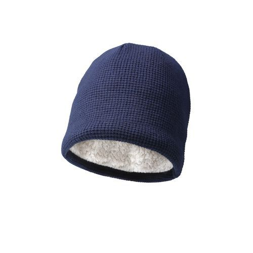 Luxury beanie with teddy lining (marine) (Art.-Nr. CA432772)