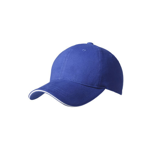 Brushed Cotton 6 Panel Sandwich Cap (royal / weiß) (Art.-Nr. CA461397)