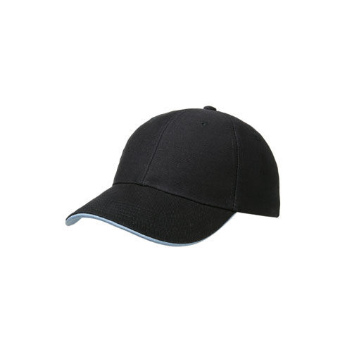 6 Panel Heavy Twill Cotton Cap (marine / hellblau) (Art.-Nr. CA476635)