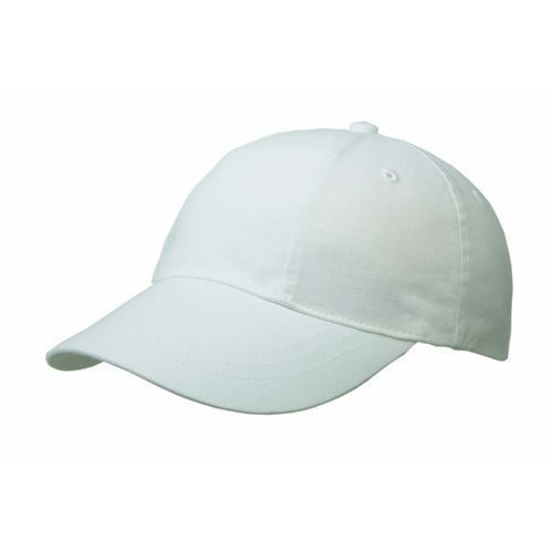 Brushed Cotton 6 Panel Turn Top Cap (weiß) (Art.-Nr. CA705619)