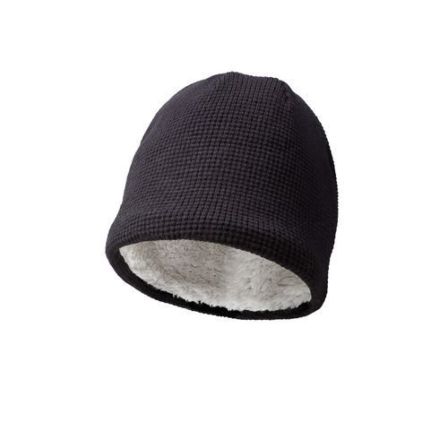 Luxury beanie with teddy lining (schwarz) (Art.-Nr. CA814415)