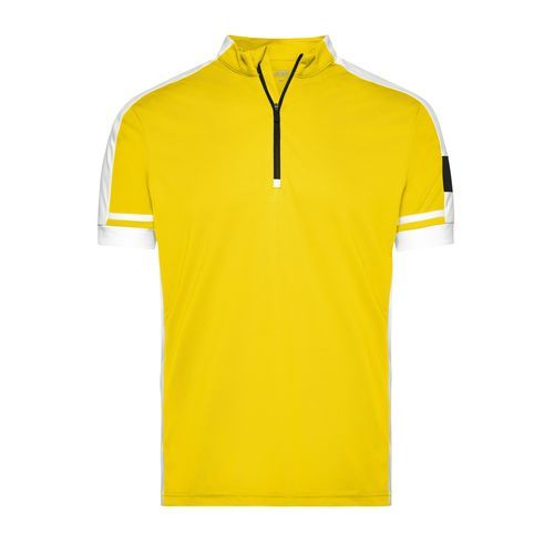 Sportives Bike-Shirt (gelb) (Art.-Nr. CA004456)