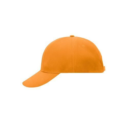 Turned 6 Panel Cap Laminated - Originelles Cap mit verdrehten, gleich großen Panels (orange) (Art.-Nr. CA015950)