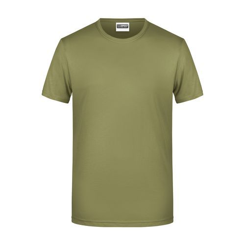 Men's Basic-T - Herren T-Shirt in klassischer Form (braun) (Art.-Nr. CA016395)