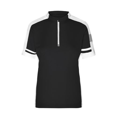 Ladies' Bike-T Half Zip - Sportives Bike-Shirt (schwarz) (Art.-Nr. CA016856)