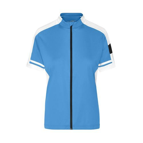 Ladies' Bike-T Full Zip - Sportives Bike-Shirt (blau) (Art.-Nr. CA016865)