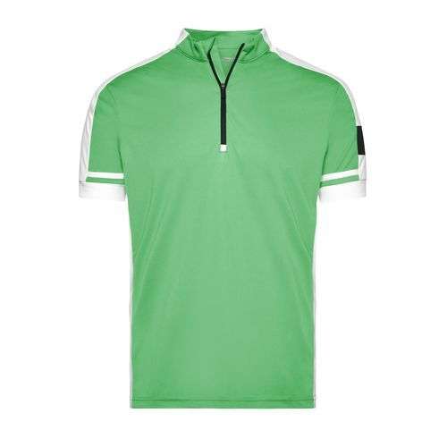 Men's Bike-T Half Zip - Sportives Bike-Shirt (grün) (Art.-Nr. CA019236)
