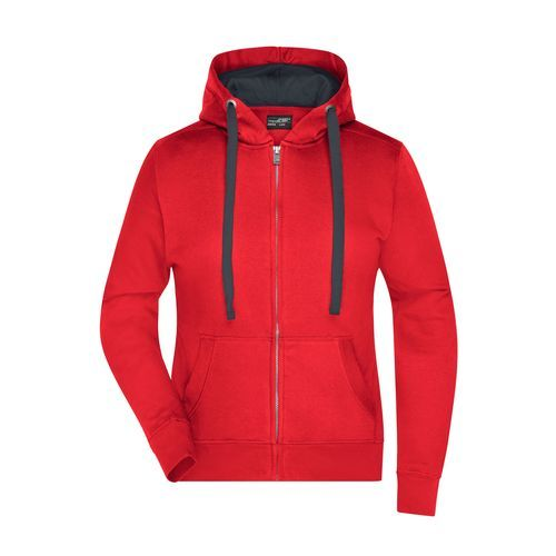 Premium Sweat-Jacke mit Bionic®-Finish (rot / grau) (Art.-Nr. CA020445)