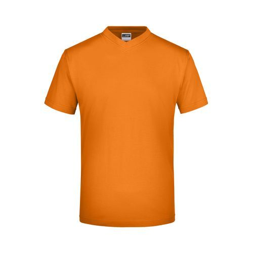Komfort-V-Neck-T aus Single-Jersey (orange) (Art.-Nr. CA021355)