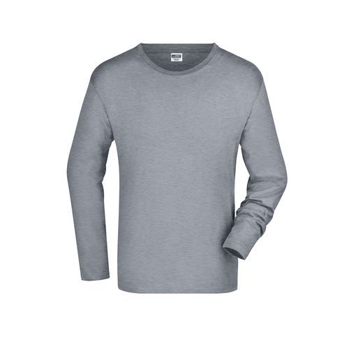 Men's Long-Sleeved Medium - Langarm T-Shirt aus Single-Jersey (grau) (Art.-Nr. CA022892)