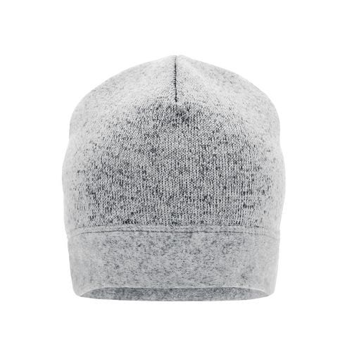 Knitted Fleece Workwear Beanie - STRONG - - Strickmütze in Melangeoptik (weiß / grau) (Art.-Nr. CA023515)