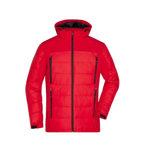 Men's Outdoor Hybrid Jacket - Thermojacke in attraktivem Materialmix (Art.-Nr. CA029048)