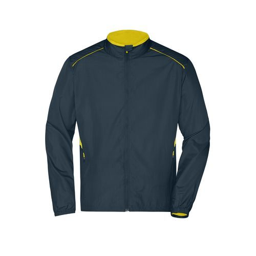 Men's Performance Jacket - Leichte Laufjacke (gelb/grau) (Art.-Nr. CA035508)
