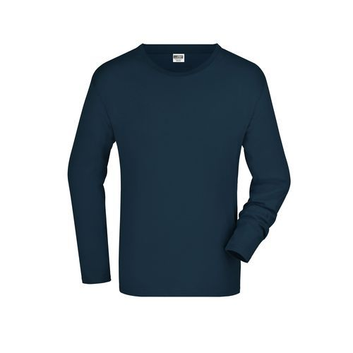 Men's Long-Sleeved Medium - Langarm T-Shirt aus Single-Jersey (blau) (Art.-Nr. CA037428)