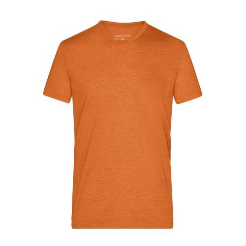 Men's Heather T-Shirt - Modisches T-Shirt mit V-Ausschnitt (orange) (Art.-Nr. CA037685)