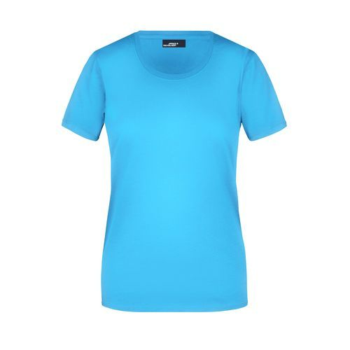 Ladies' Basic-T - Leicht tailliertes T-Shirt aus Single-Jersey (blau) (Art.-Nr. CA037887)
