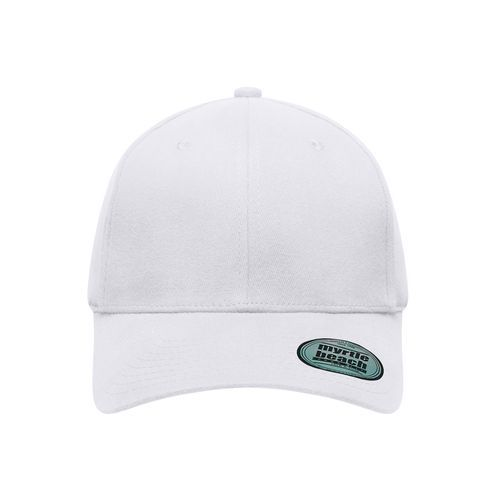 6 Panel Elastic Fit Baseball Cap - Trendiges 6 Panel Cap ohne Verschluss (weiß) (Art.-Nr. CA039838)