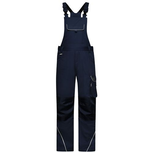 Workwear Pants with Bib - SOLID - - Funktionelle Latzhose im cleanen Look mit hochwertigen Details (blau) (Art.-Nr. CA040978)