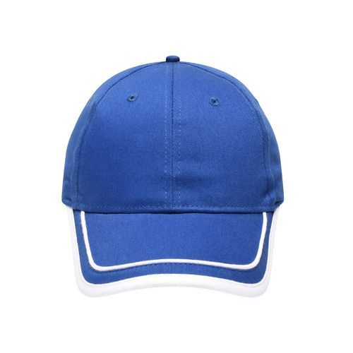 Brushed 6 Panel Cap (weiß / blau) (Art.-Nr. CA052661)