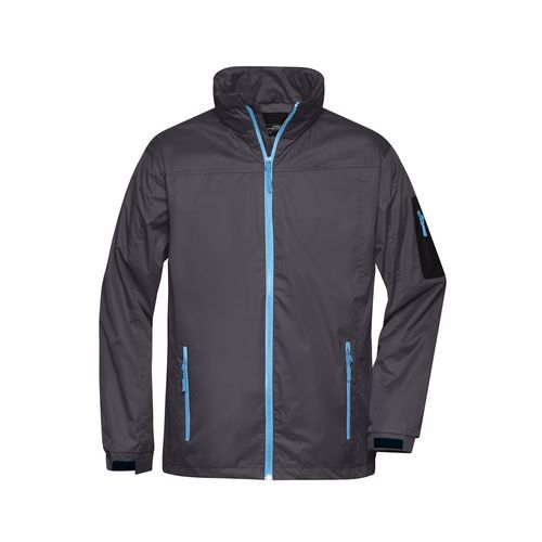 Men's Windbreaker - Sportliche, funktionelle Outdoor-Jacke (grau/blau) (Art.-Nr. CA055054)
