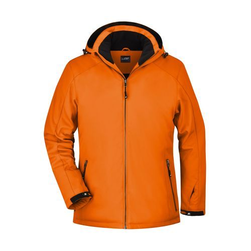 Elastische, gefütterte Softshelljacke (orange) (Art.-Nr. CA060508)