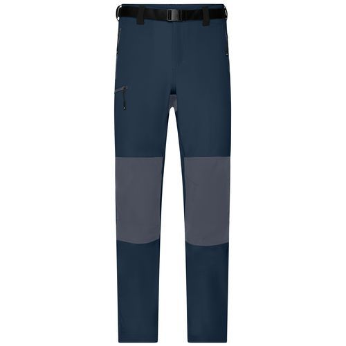 Men's Trekking Pants - Bi-elastische Outdoorhose in sportlicher Optik (blau / grau) (Art.-Nr. CA062597)