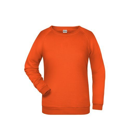 Promo Sweat Lady - Rundhals-Sweatshirt mit Raglanärmeln für Damen (orange) (Art.-Nr. CA077444)