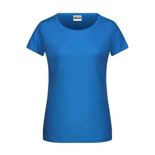 Ladies' Basic-T - Damen T-Shirt in klassischer Form (blau) (Art.-Nr. CA086530)