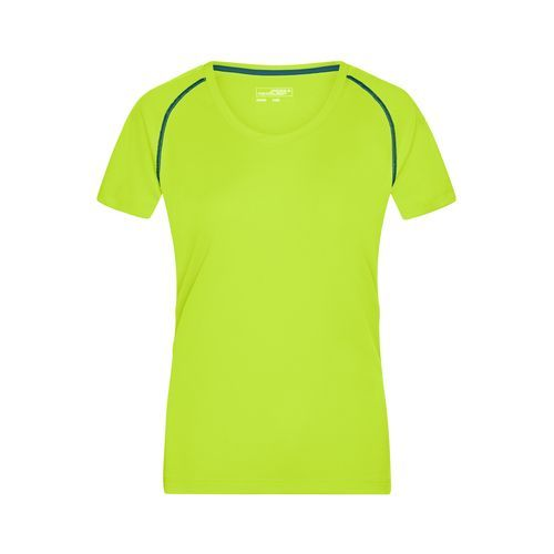 Ladies' Sports T-Shirt - Funktions-Shirt für Fitness und Sport (gelb/blau/neon) (Art.-Nr. CA086689)