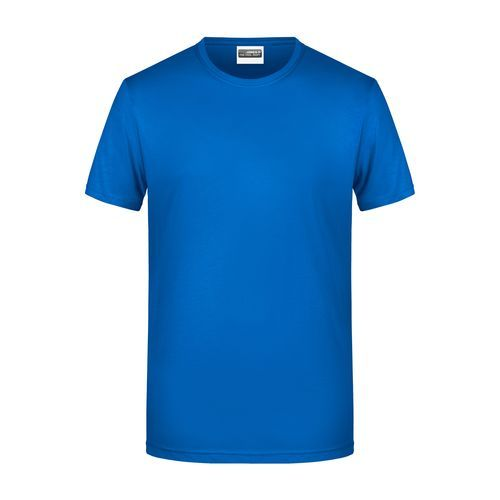 Men's Basic-T - Herren T-Shirt in klassischer Form (blau) (Art.-Nr. CA105094)