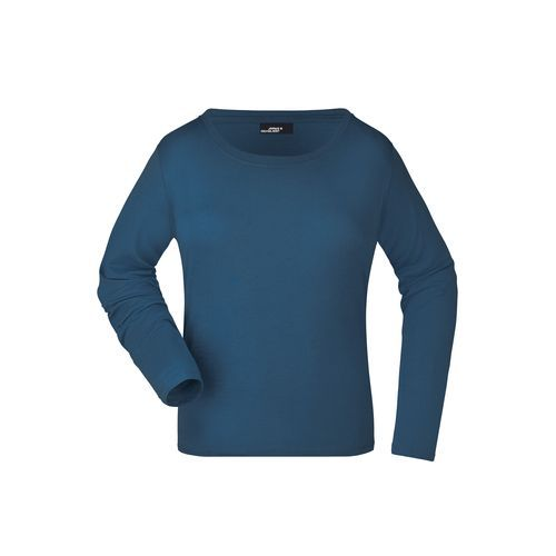 Langarm T-Shirt aus Single-Jersey (blau) (Art.-Nr. CA106831)