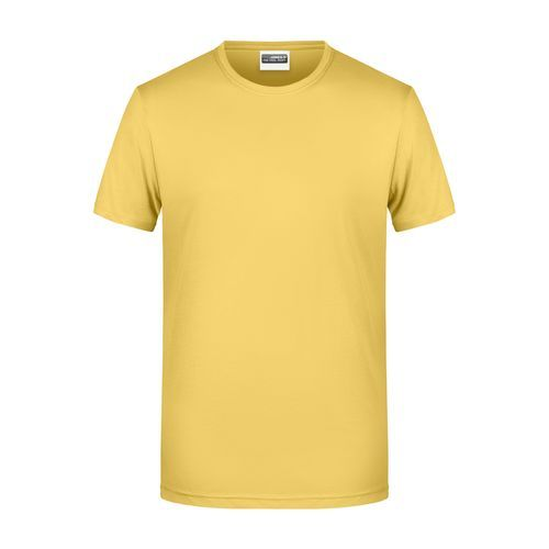 Men's Basic-T - Herren T-Shirt in klassischer Form (gelb) (Art.-Nr. CA112244)